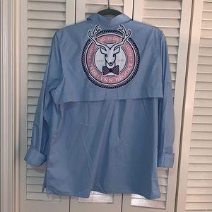 Baby blue custom Jadelynn Brooke fishing shirt